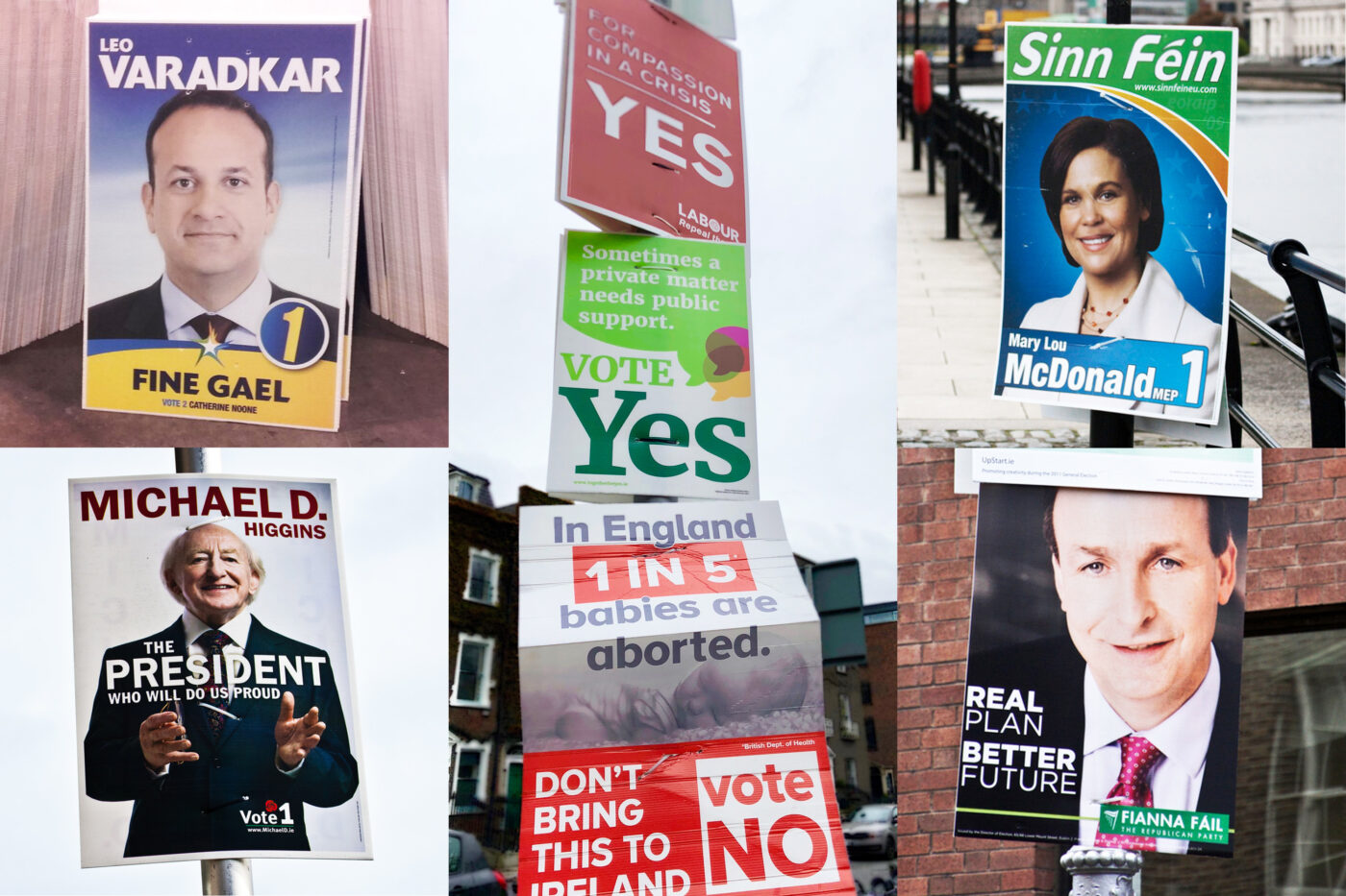 ElectionPosters. Photo Credits: Flickr: @infomatique (William Murphy) and @sonsespics, Twitter @fgdubw
